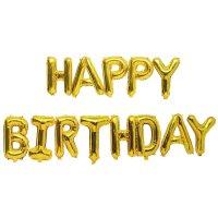 YEY! Let's Party Folienballon-Set Happy Birthday gold 13teilig