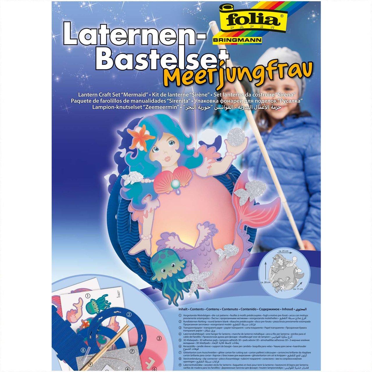 folia Laternen Set Meerjungfrau