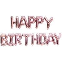 YEY! Let's Party Folienballon-Set Happy Birthday rosa 13teilig