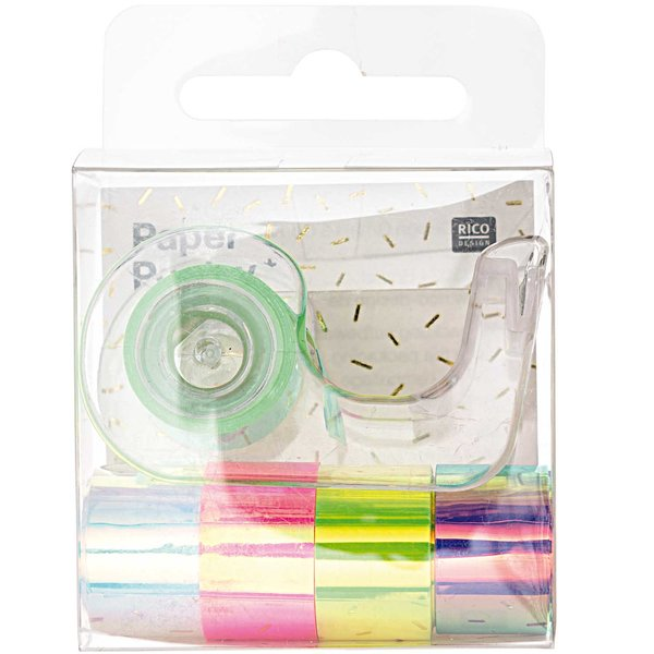 Paper Poetry Mini-Mirror Rainbow Tape Set Regenbogen 12mm 1,8m 5-teilig