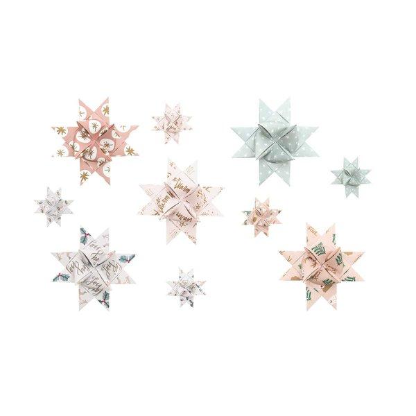 Paper Poetry Fröbelstreifen Jolly Christmas pastell 40 Stück