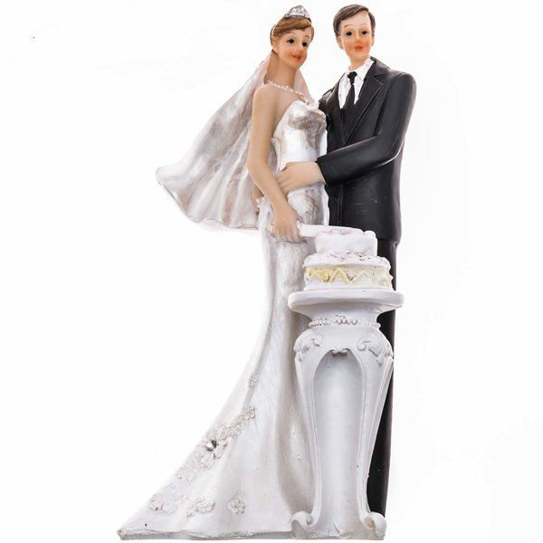 Brautpaar Mit Hochzeitstorte 14cm Gunstig Online Kaufen