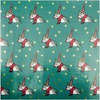 Paper Poetry Geschenkpapier Magical Christmas Einhorn petrol 70x200cm 2m