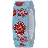 Rico Design Tape Blumen hellblau 15mm 10m