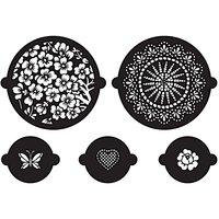 Rico Design Kuchen- und Cupcake Schablonen Floral 5er Set
