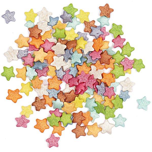 Rico Design Dekor Sterne mehrfarbig 60g