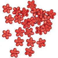 Rico Design Sticker Blüte rot 24 Stück