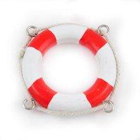 Rettungsring rot-weiß Holz 5cm