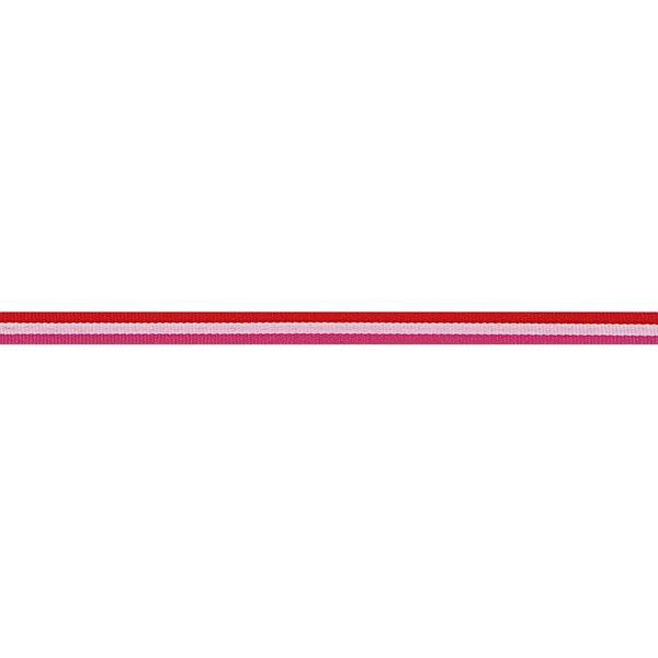 Rico Design Ribbon Streifen rot-rosa-pink 2m