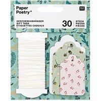Paper Poetry Geschenkanhänger Classic Christmas 30 Stück