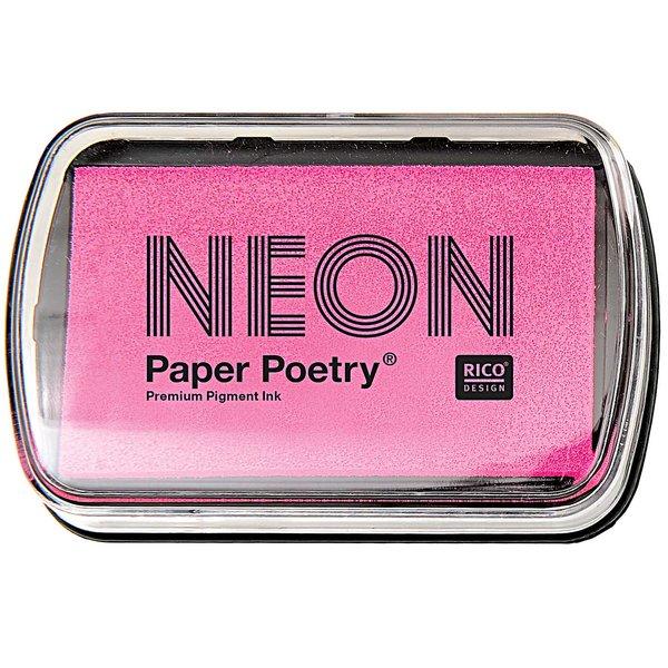 Paper Poetry Stempelkissen neonpink 9x6cm