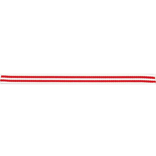 Rico Design Ribbon Streifen weiß-rot 2m