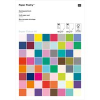 Paper Poetry Bastelblock Super Colour A4  60 Blatt