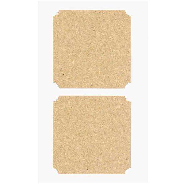 Paper Poetry Kraftpapier Sticker eckig groß