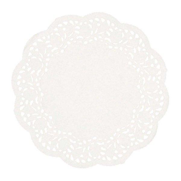 Rico Design Tortenspitze weiß 26,5cm 12 Stück