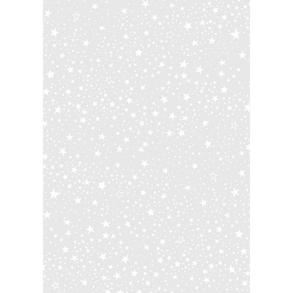 HEYDA Transparentpapier Sterne weiß 50x70cm 115g/m²