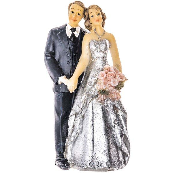 Brautpaar Silberhochzeit 10,4cm