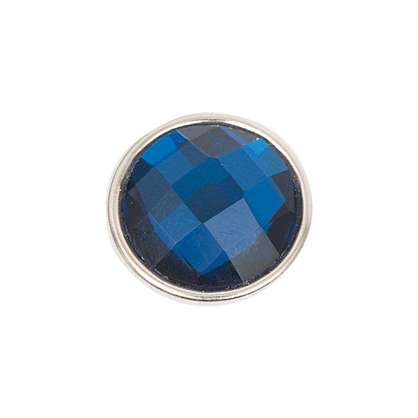 Rico Design Knopf Glas geschliffen blau 14mm