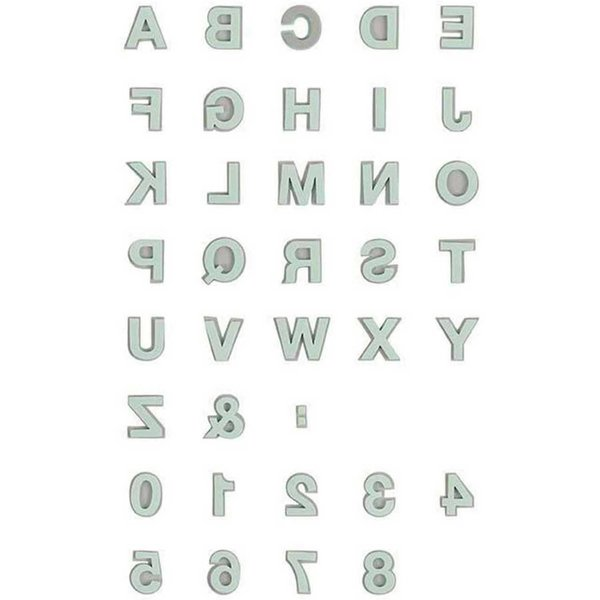 Rico Design Moosgummistempel Set Alphabet 2