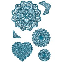 Paper Poetry Silikonstempel Doilies 6 Motive