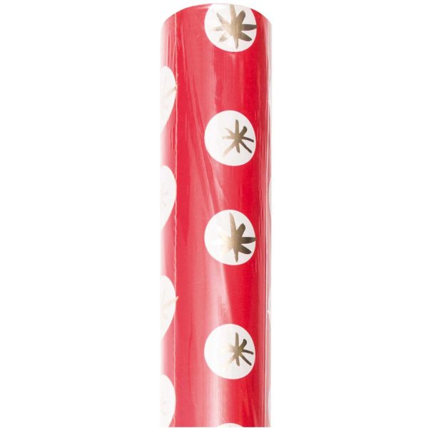 Paper Poetry Geschenkpapier Jolly Christmas Sterne rot 70cm 2m Hot Foil