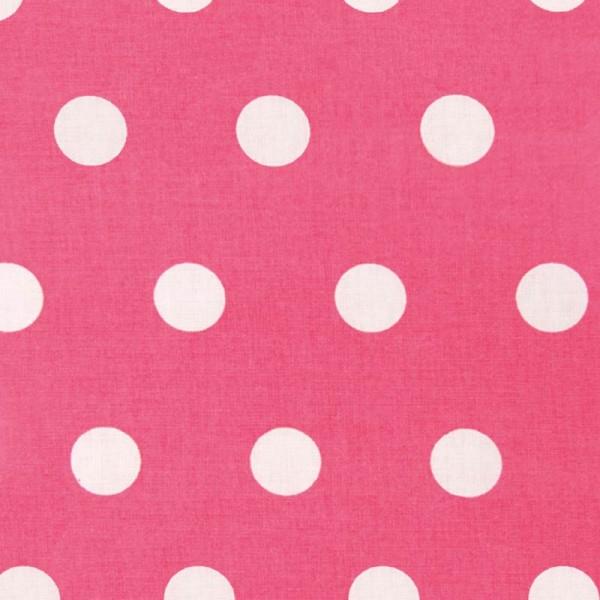 Rico Design Stoff Punkte groß Azalee weiß 50x55cm