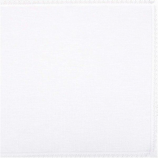 Rico Design Deckchen weiß mit Spitze 35x50cm