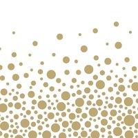 Ambiente Serviette Sparkling Dots gold 33x33cm 20 Stück
