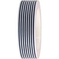 Rico Design Tape weiß-dunkelblau gestreift 15mm 10m