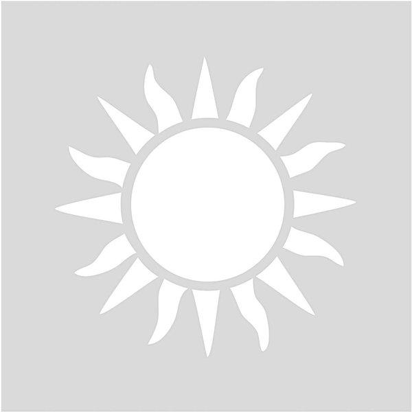 Rico Design Schablone Sonne 7,5x7,5cm selbstklebend