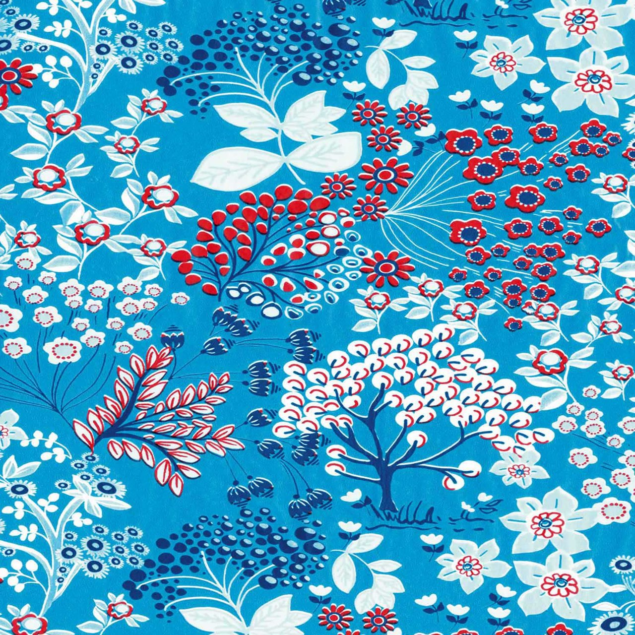 décopatch Papier Garten blau 3 Bogen