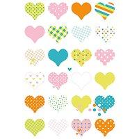 Paper Poetry Sticker Herzen mehrfarbig 10x19cm