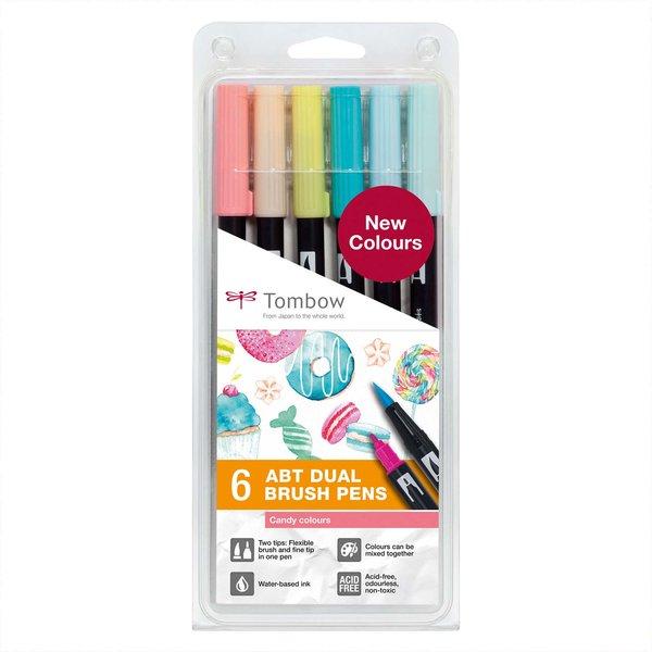 Tombow ABT Dual Brush Pen-Set Candy Colours 6teilig