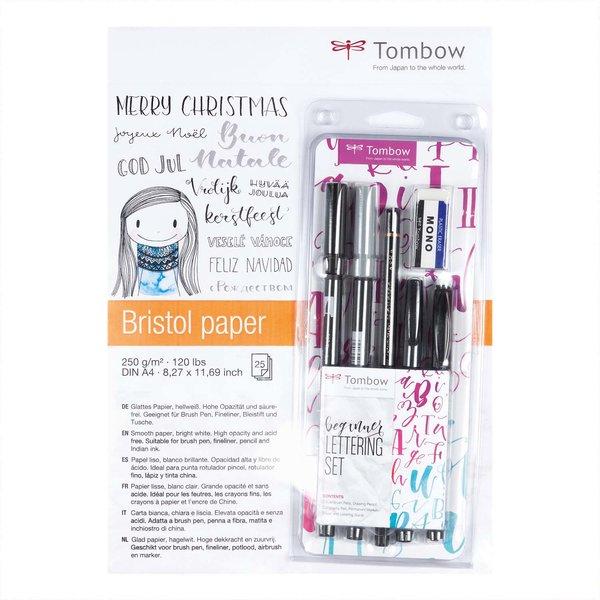 Tombow Christmas Bundle Hand Lettering Stifteset und Zeichenblock designed by Frau Hölle 7teilig