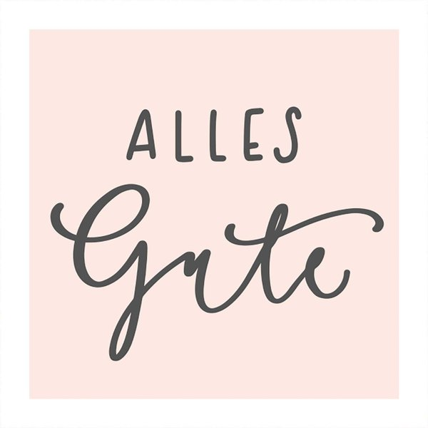 May&Berry Stempel Alles Gute nude 45x45mm