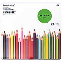 Paper Poetry mehrfarbigstifte Super Soft im Metalletui 24 Stück