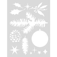 Rico Design Schablone Weihnachten Nr.2 18,5x24,5cm selbstklebend