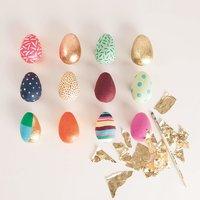 Anleitung Eier aus Pappmache bemalen