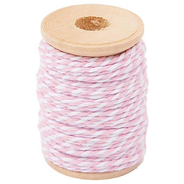Paper Poetry Baumwollgarn rosa-weiß 15m