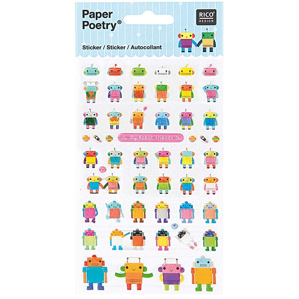 Paper Poetry Sticker Roboter