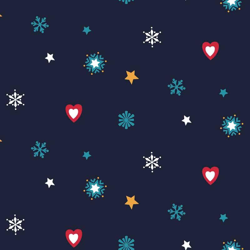 Weihnachtlicher Stoffzuschnitt für Patchwork und Basteln