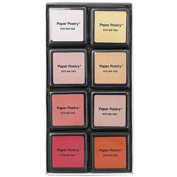 Paper Poetry Tusche-Stempelkissen Set Valentine´s Mix 8 Farben