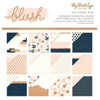 MyMindsEye Blush - Paper Pad Gold Foiled 15,2x15,2cm