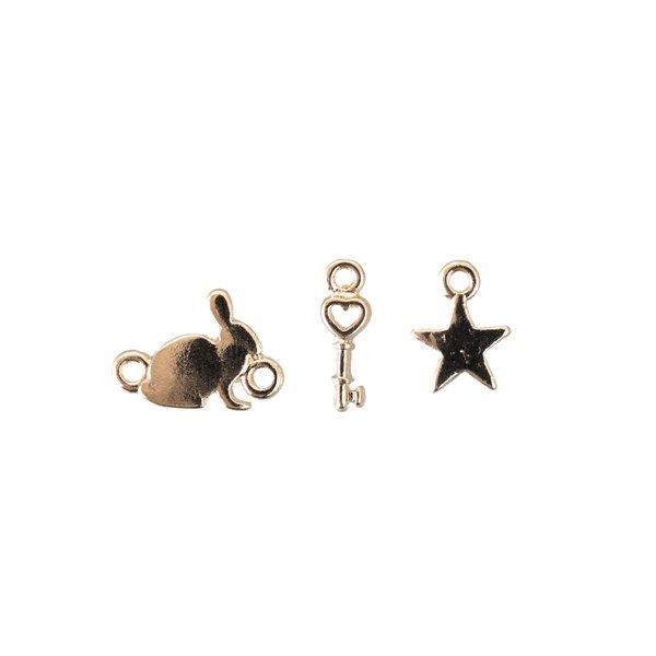 Jewellery Made by Me Anhänger Mix15 gold 3 Stück