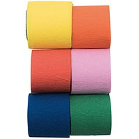 YEY! Let's Party Kreppbänder mehrfarbig mix 3,5cmx10m 6 Stück