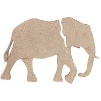 Rico Design MDF Elefant groß 8,5x12,5x0,5cm