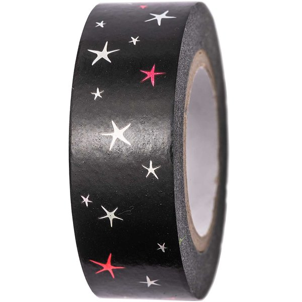 Paper Poetry Tape Sterne schwarz 15mm 10m