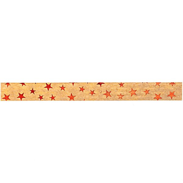 GOLDINA Packpapier-Ringelband hellbraun-gold 10mm 12m Hot Foil