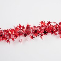 Spiralgirlande weihnachtsrot mit Sternen 7,5m