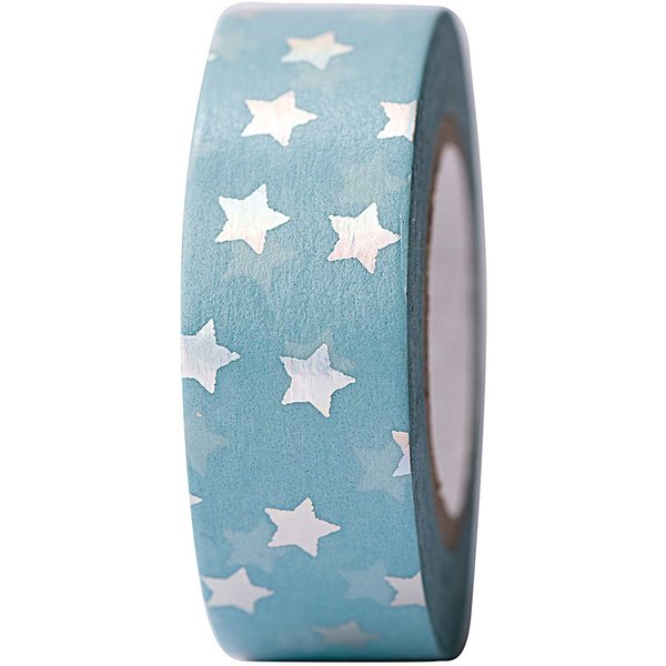 Paper Poetry Tape Sterne irisierend 15mm 10m Hot Foil